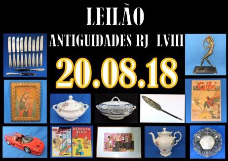 LEILÃO ANTIGUIDADES RJ LVIII