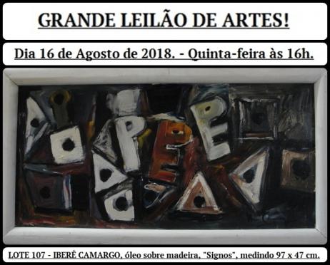GRANDE LEILÃO DE ARTES!