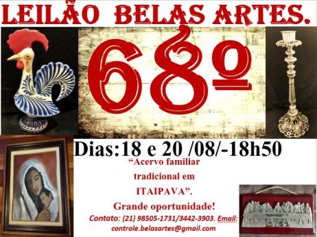 68º Leilão Belas Artes e Antiguidades Sexagésimo Sétimo