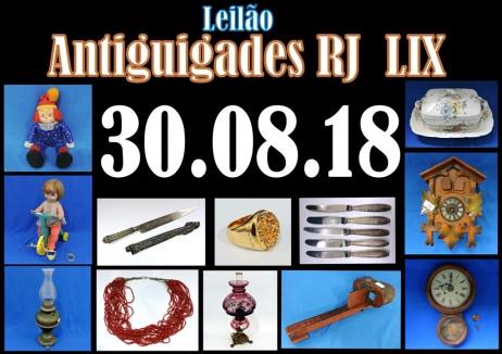 LEILÃO ANTIGUIDADES RJ LIX