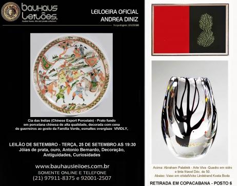 LEILÃO DE  SETEMBRO -  PEÇAS DE RESIDÊNCIAS DA ZONA SUL - Joias em prata e ouro, Antiguidades, Decor