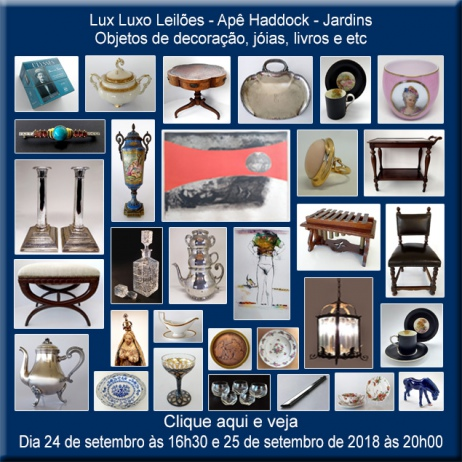 Lux Luxo Leilões - Apê Haddock - Jardins - 24 e 25/09/2018