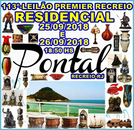113º-LEILÃO PREMIER RECREIO-RESIDENCIAL PONTAL- RECREIO-RJ