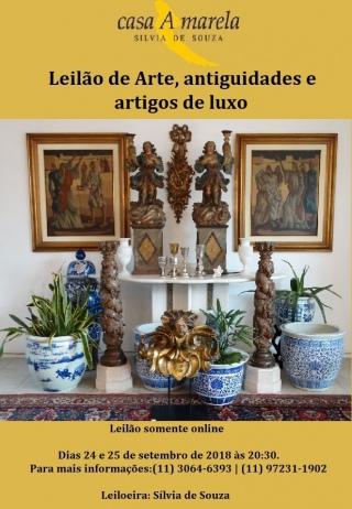 LEILÃO DE ARTE, ANTIGUIDADES E ARTIGOS DE LUXO