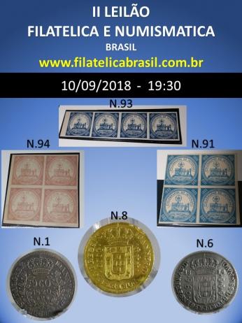 II LEILÃO DE COLECIONISMO FILATÉLICA E NUMISMÁTICA BRASIL