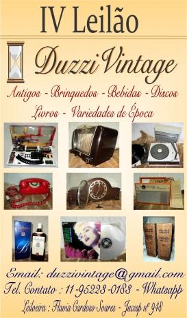 IV LEILÃO DUZZIVINTAGE - Antigos - Brinquedos - Bebidas - Discos - Livros - Variedades