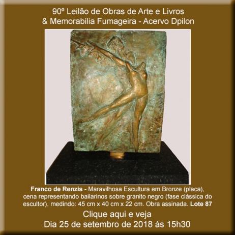 90º Leilão de Obras de Arte e Livros & Memorabilia Fumageira - Acervo DPilon - 25 de Setembro
