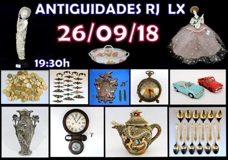LEILÃO ANTIGUIDADES RJ LX